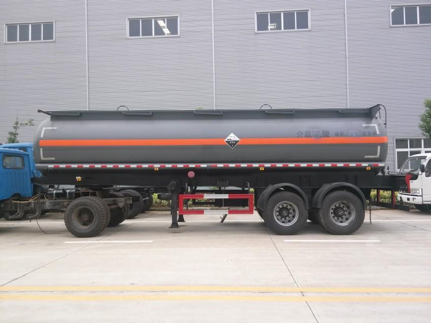 润之星牌SCS9350GFW硝酸运输两桥半挂车
