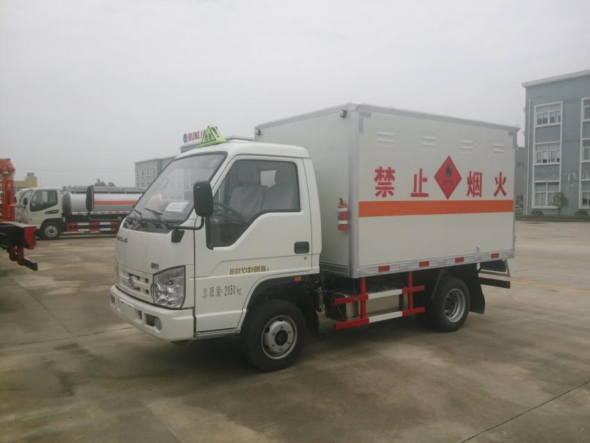 润之星牌SCS5030XRQBJ4福田时代气瓶厢式运输车(蓝牌)